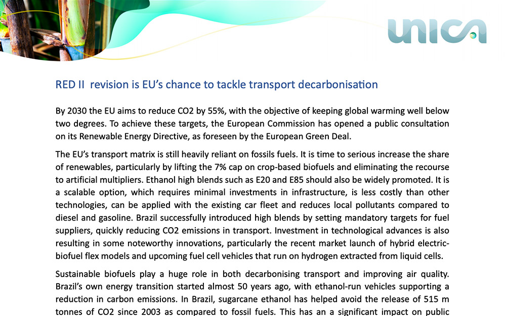 Red II revision is eu's chance to tackle transport decarbonisation